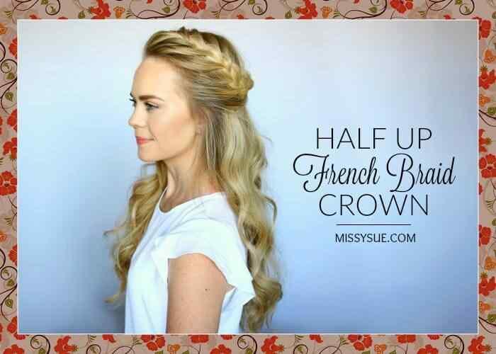 Hermoso peinado de media corona con trenza