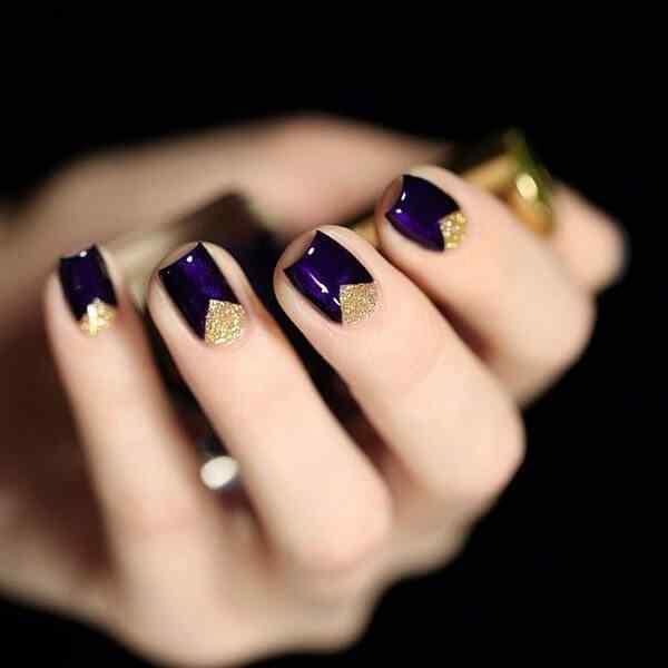 media luna diseño de uñas