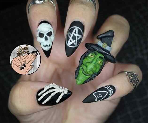 Uñas decoradas para Halloween