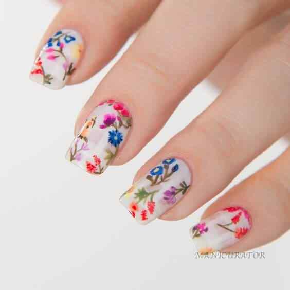 decoracion de uñas floral