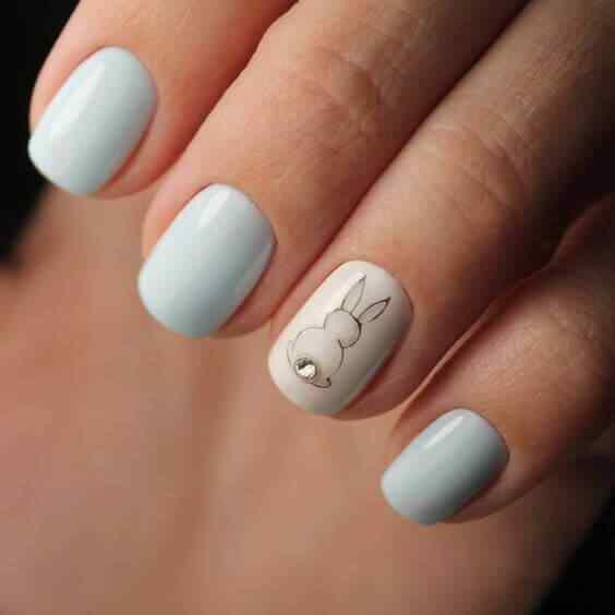 diseño de uñas con stickers