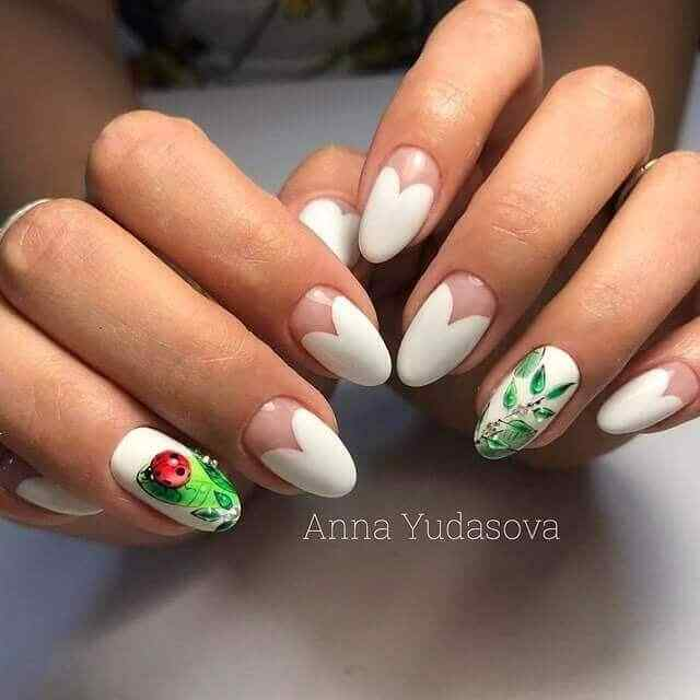 diseño de uñas largas para novias
