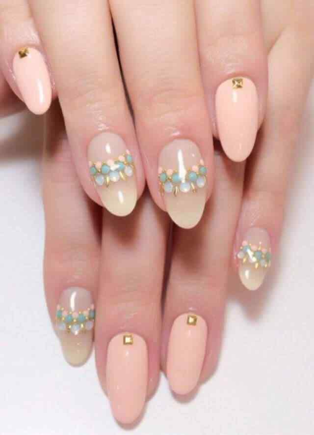 diseño de uñas para boda en color rosa