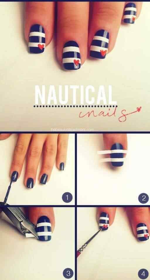 diseño facil de uñas nauticas