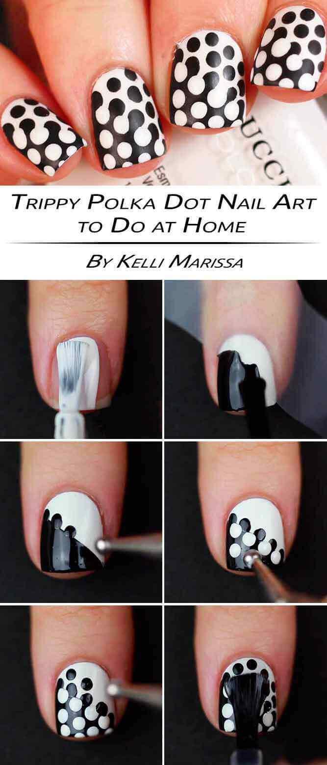 tutorial diseño de uñas decoradas con puntos