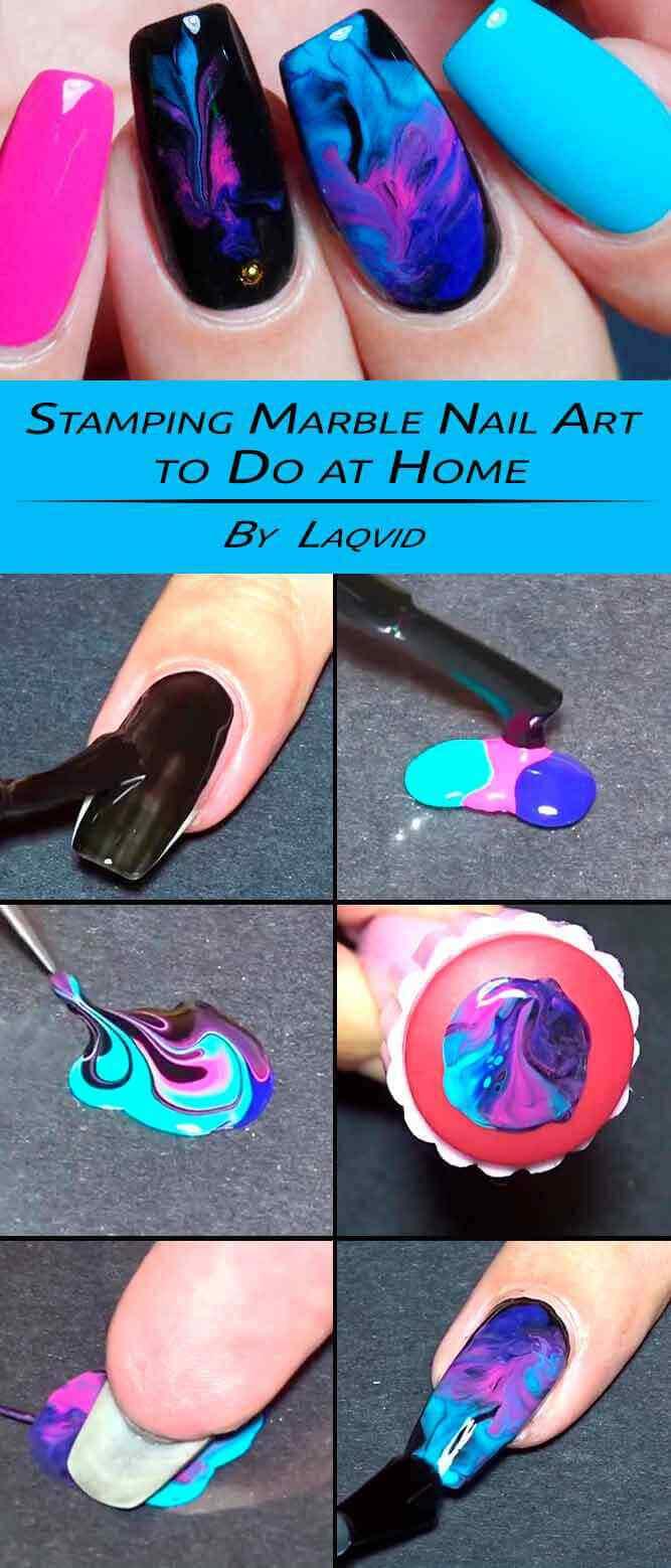 tutorial diseño de uñas marmoladas