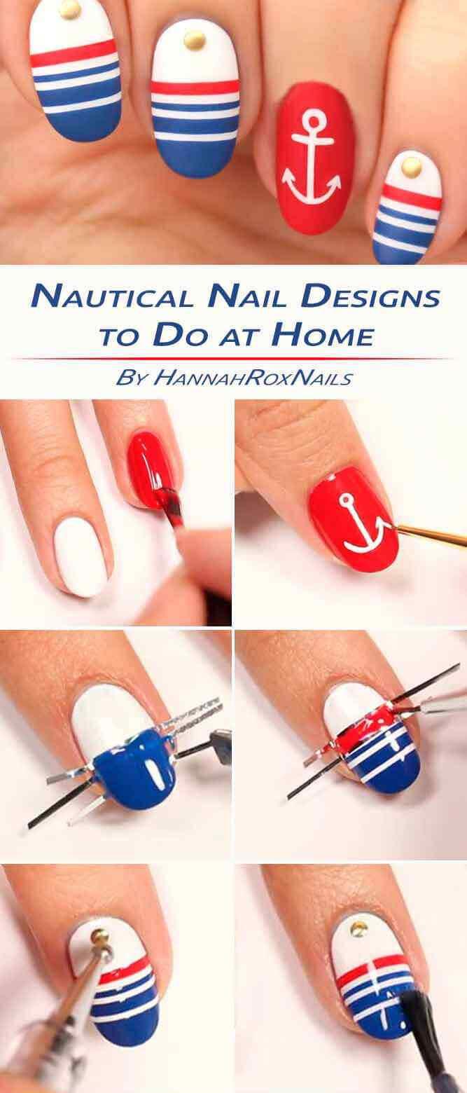 tutorial diseño de uñas nauticas