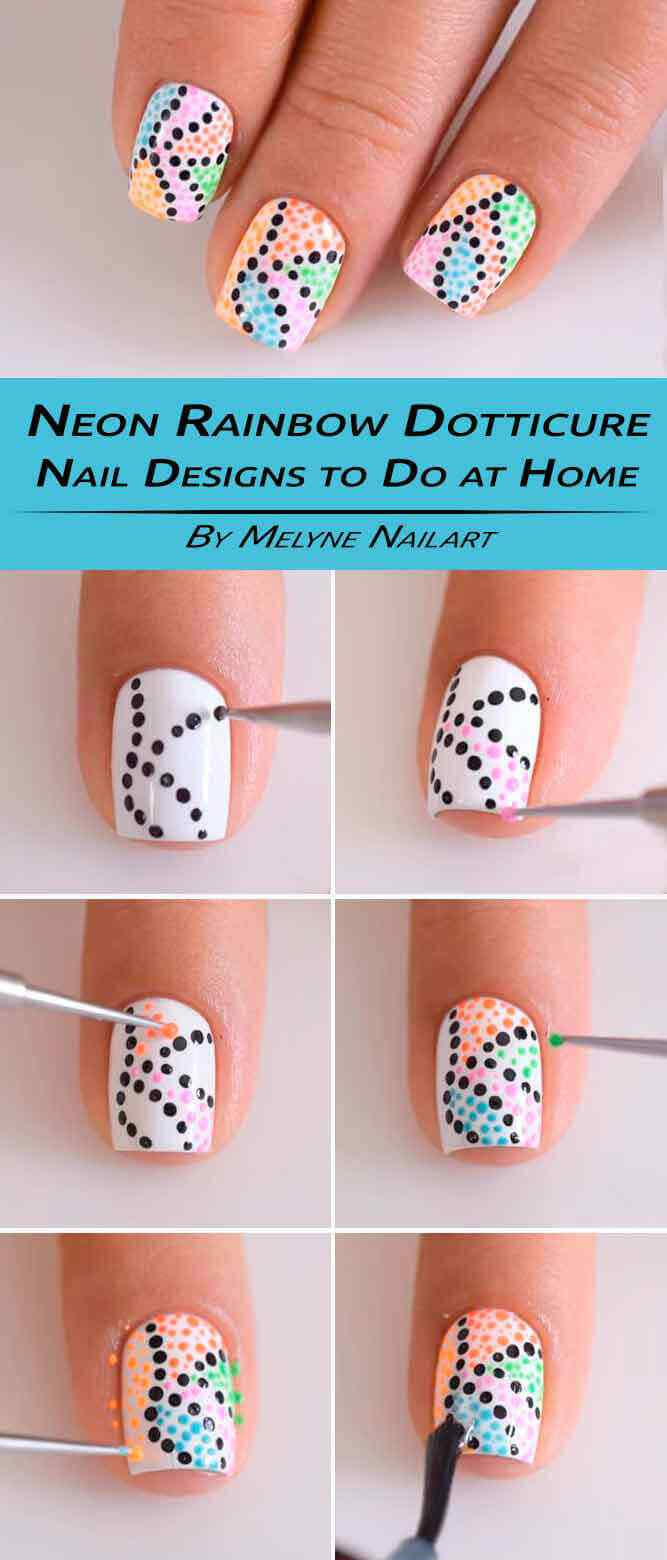 tutorial uñas decoradas con puntos