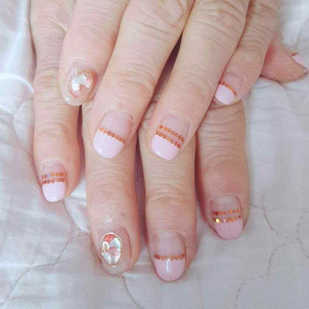 uñas decoradas francesas rosa