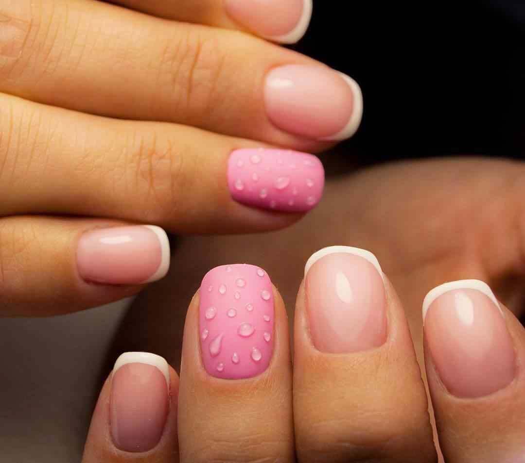 uñas francesas blanco y rosa