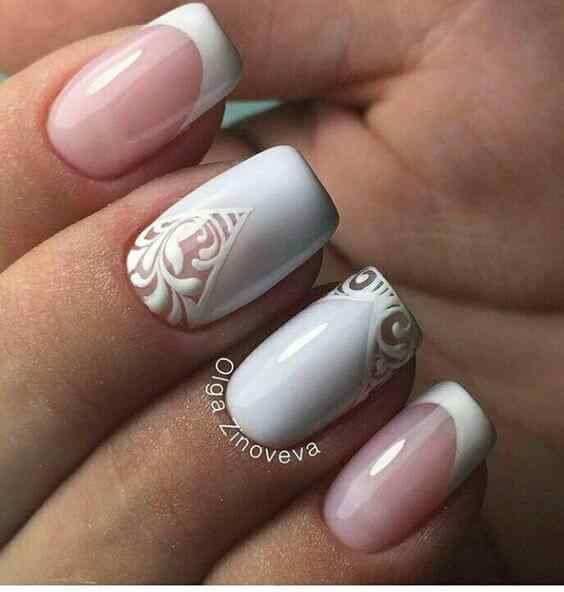 uñas francesas para novias