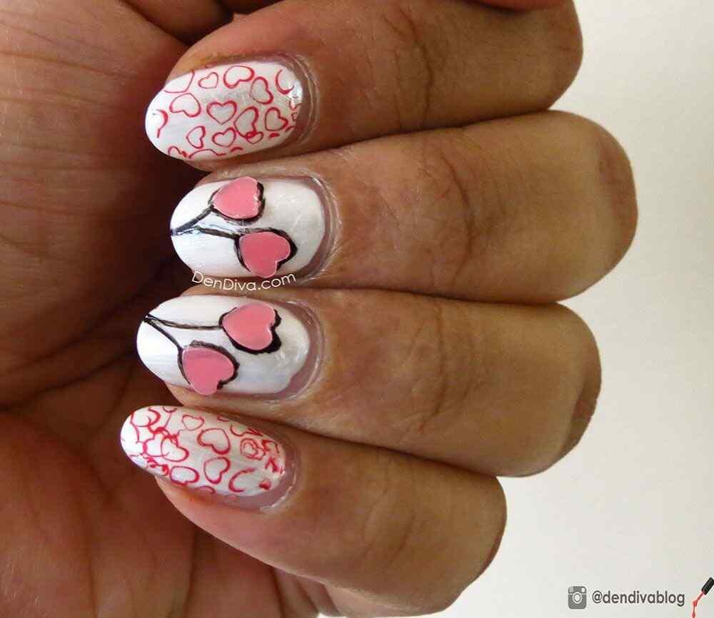 Uñas de amor con corazones para las románticas! + 170 diseños 8