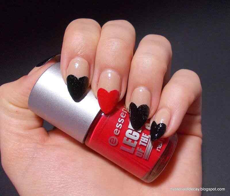 Uñas de amor con corazones para las románticas! + 170 diseños 25