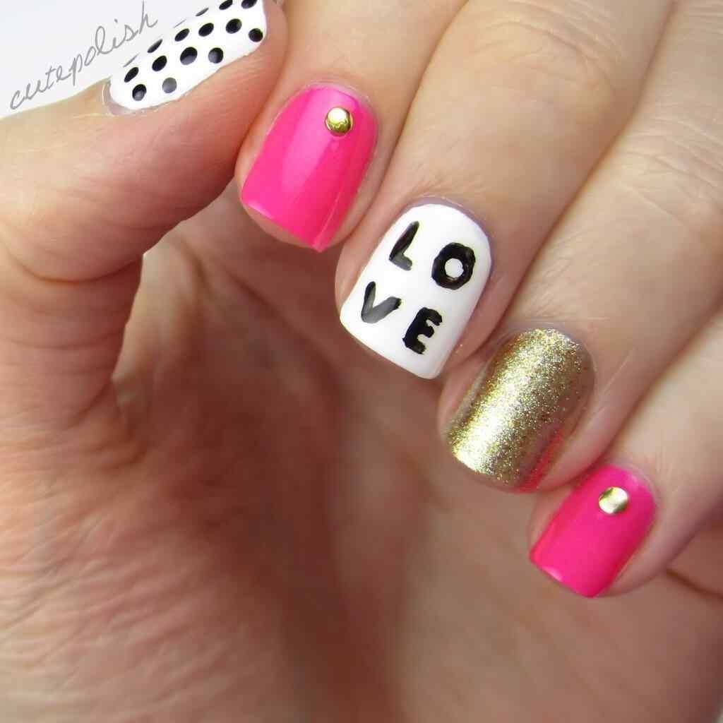 Uñas de amor con corazones para las románticas! + 170 diseños 29