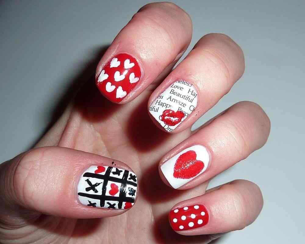 Uñas de amor con corazones para las románticas! + 170 diseños 31