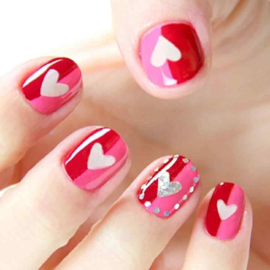 Uñas de amor con corazones para las románticas! + 170 diseños 30
