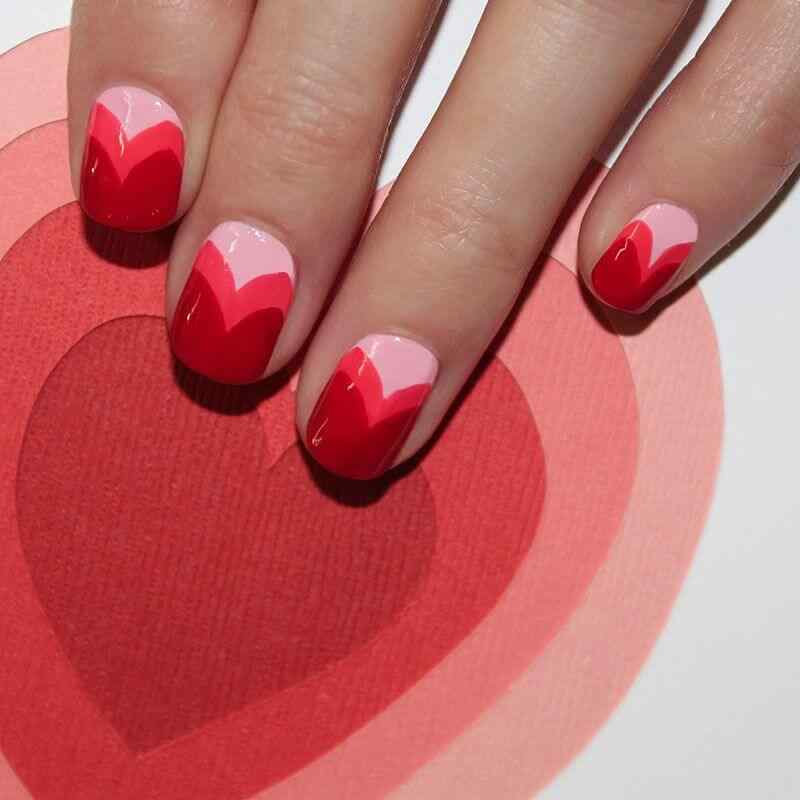 Uñas de amor con corazones para las románticas! + 170 diseños 24