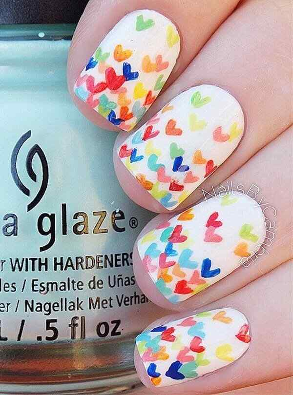 Uñas de amor con corazones para las románticas! + 170 diseños 32