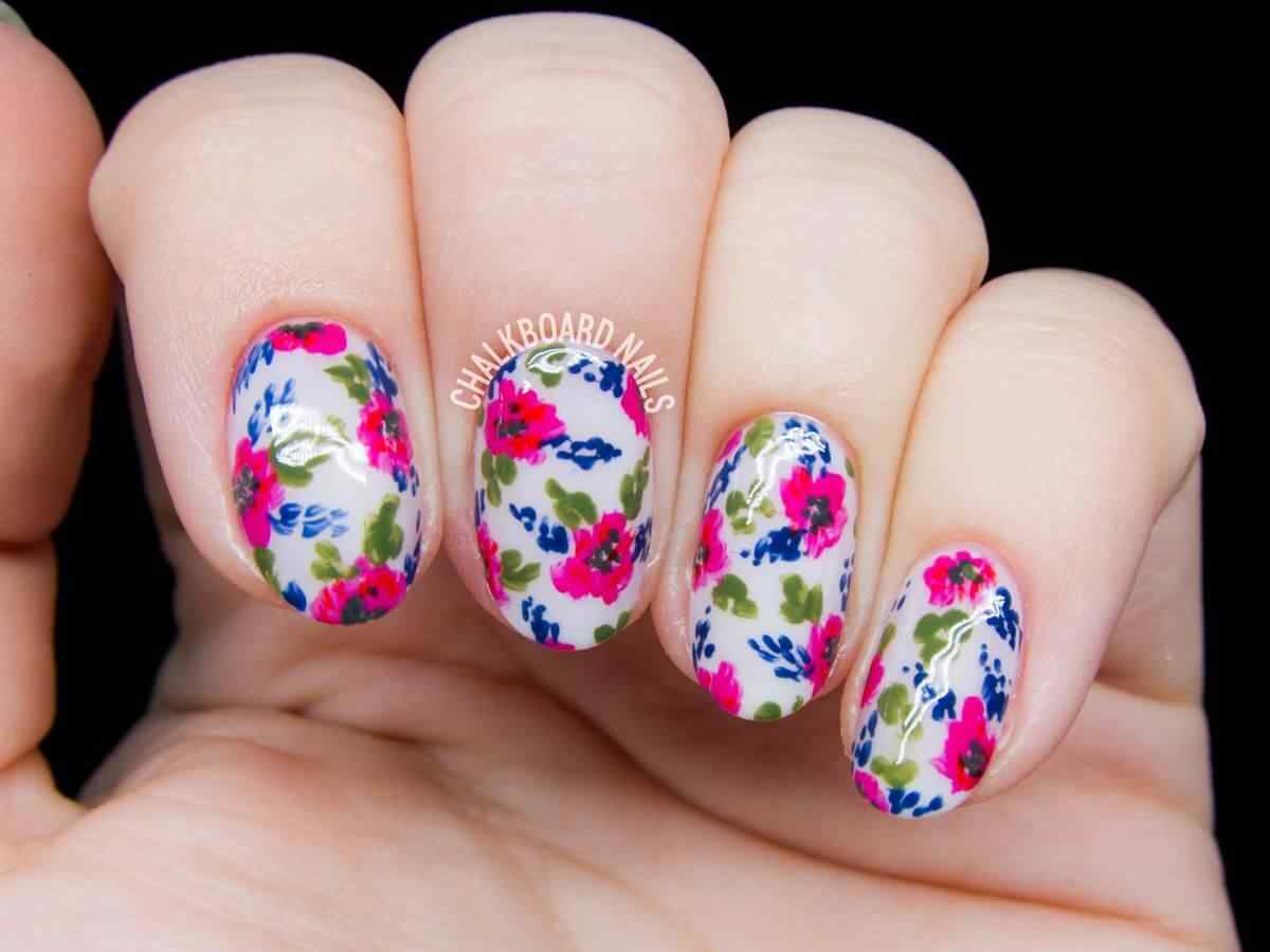 120 u as con flores u as decoradas nail art for Decoracion e