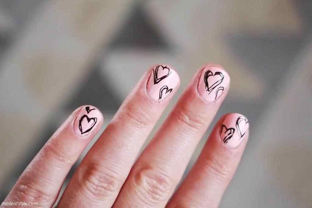 Uñas de amor con corazones para las románticas! + 170 diseños 3