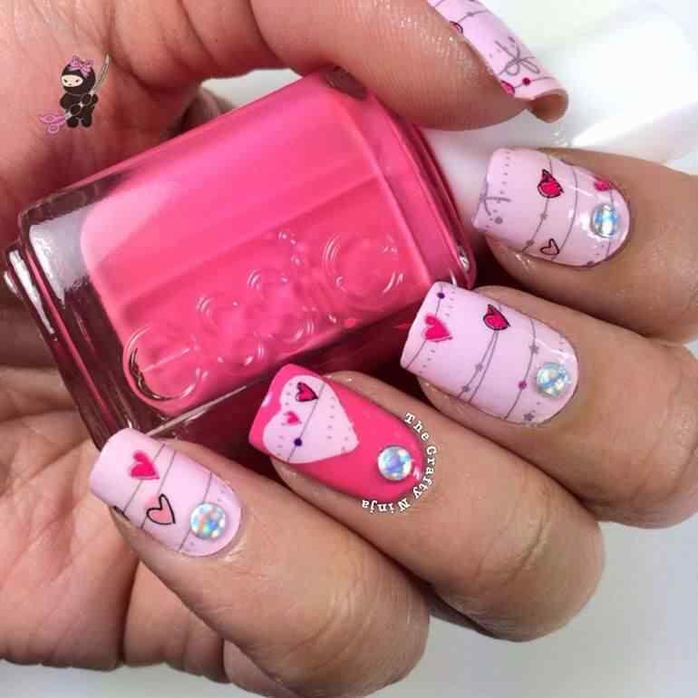 Uñas de amor con corazones para las románticas! + 170 diseños 18