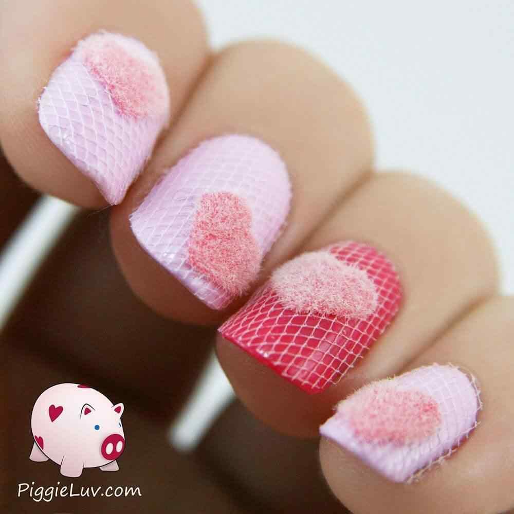 Uñas de amor con corazones para las románticas! + 170 diseños 27