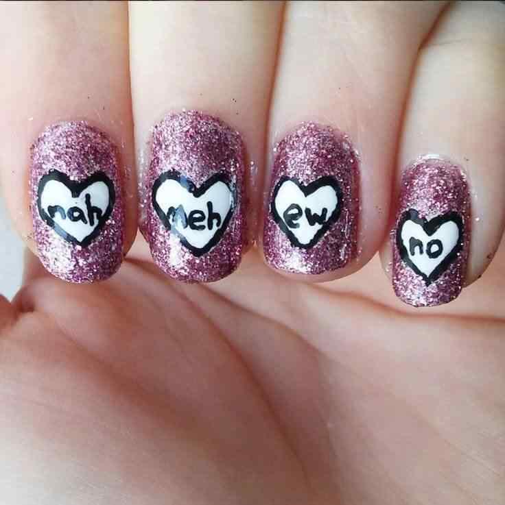 Uñas de amor con corazones para las románticas! + 170 diseños 12