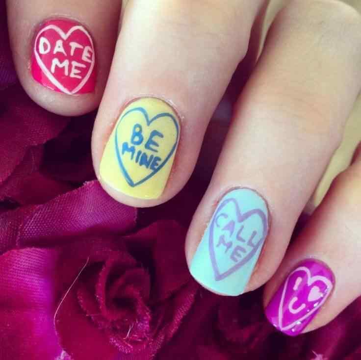 Uñas de amor con corazones para las románticas! + 170 diseños 10