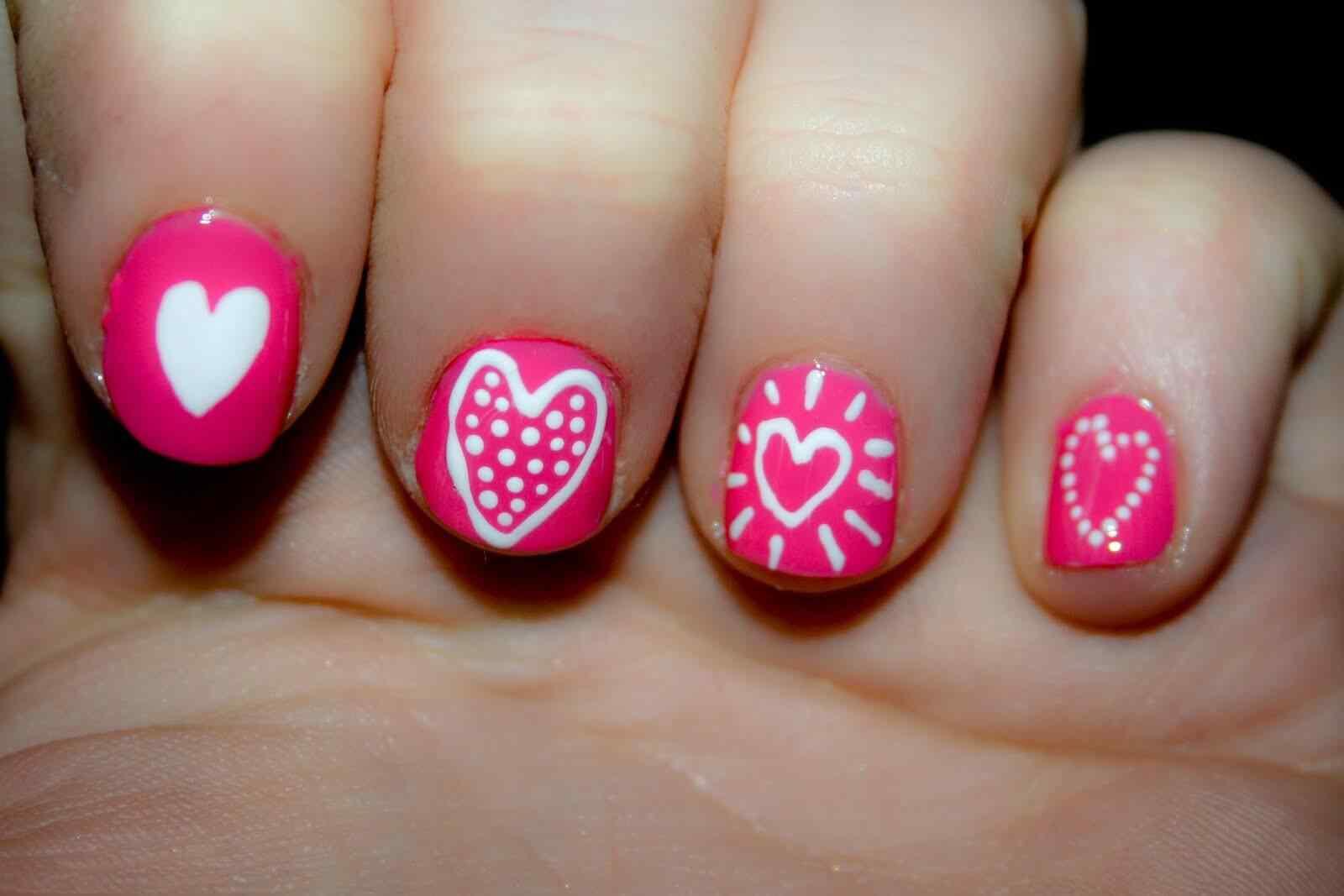 Uñas de amor con corazones para las románticas! + 170 diseños 15