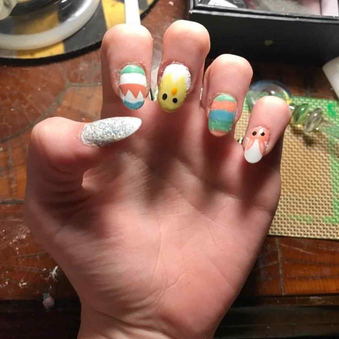 uñas decoradas para pascua