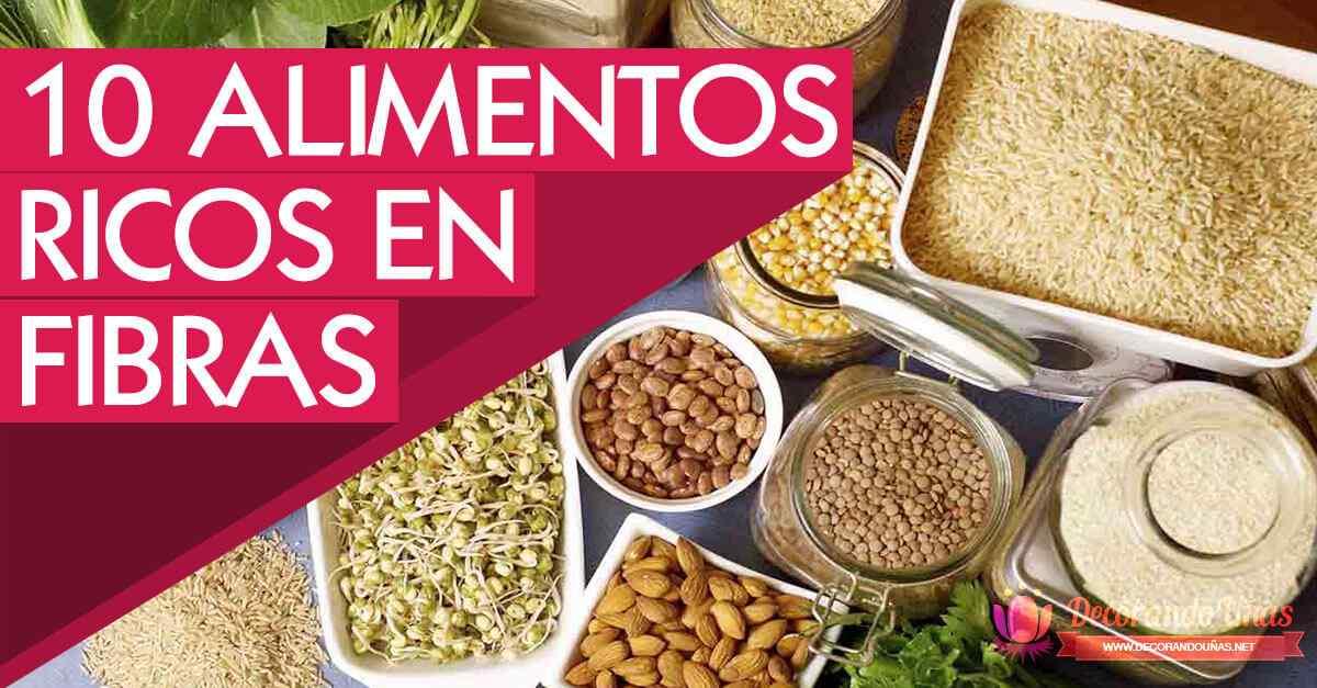 10 Alimentos ricos en fibras