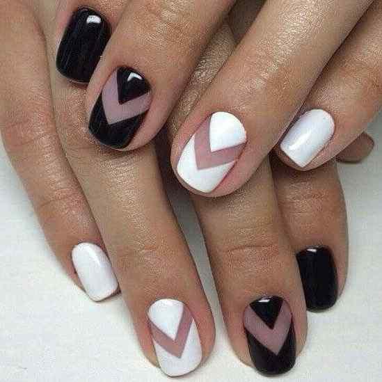 uñas blanco y negro para novias