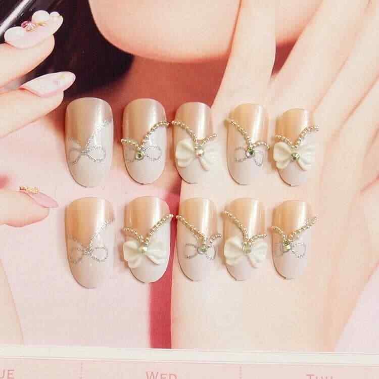 uñas para novias blancas
