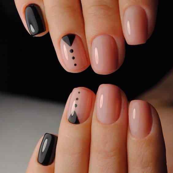 uñas sencillas en negro