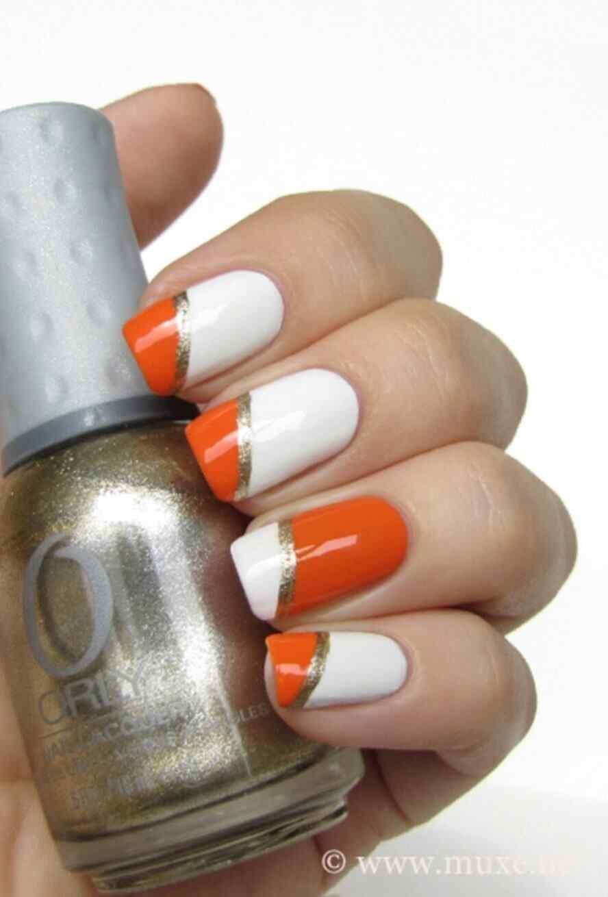 fotos de uñas naranja