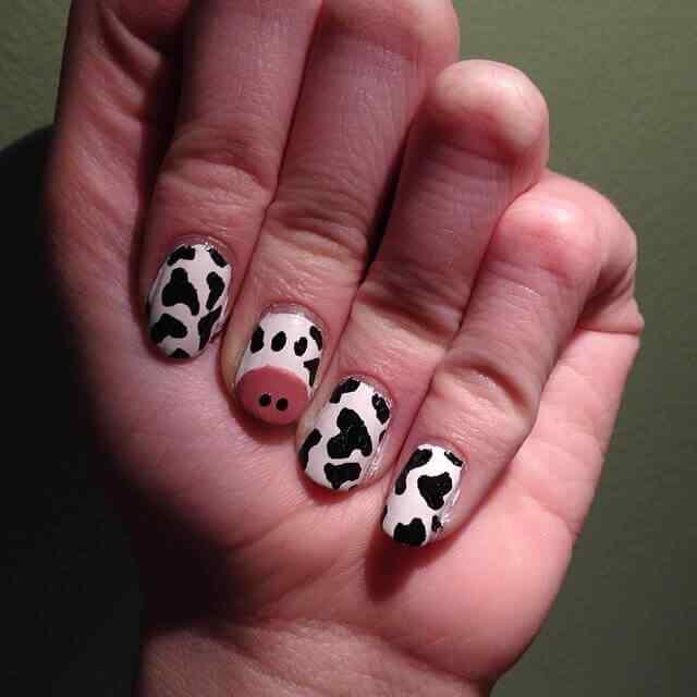 manicura animal print