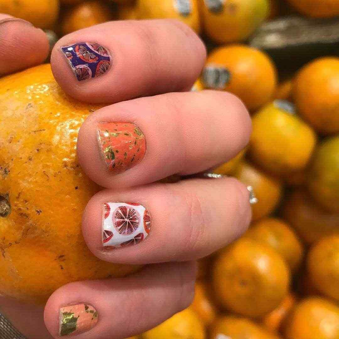 manicura naranja