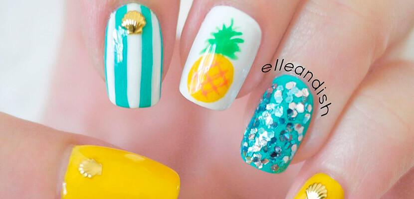 +110 Fotos de uñas decoradas para el verano - Summer Nail Art 3