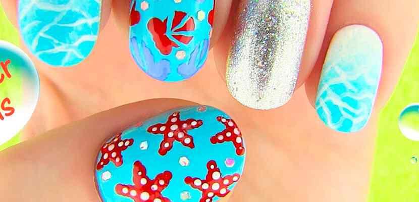 +110 Fotos de uñas decoradas para el verano - Summer Nail Art 6