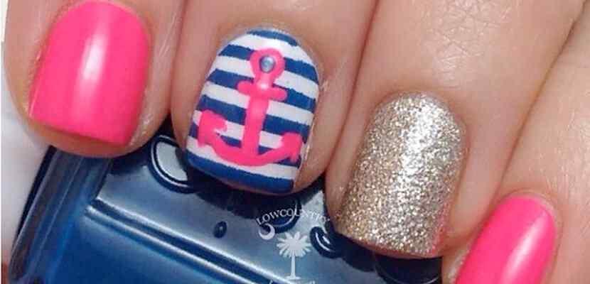 +110 Fotos de uñas decoradas para el verano - Summer Nail Art 7