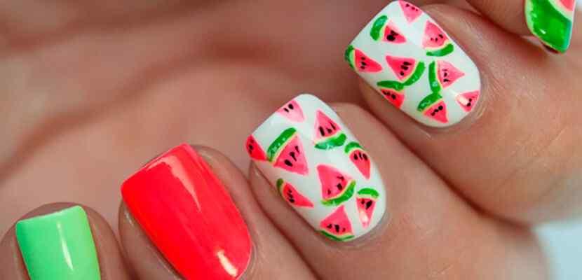 +110 Fotos de uñas decoradas para el verano - Summer Nail Art 2