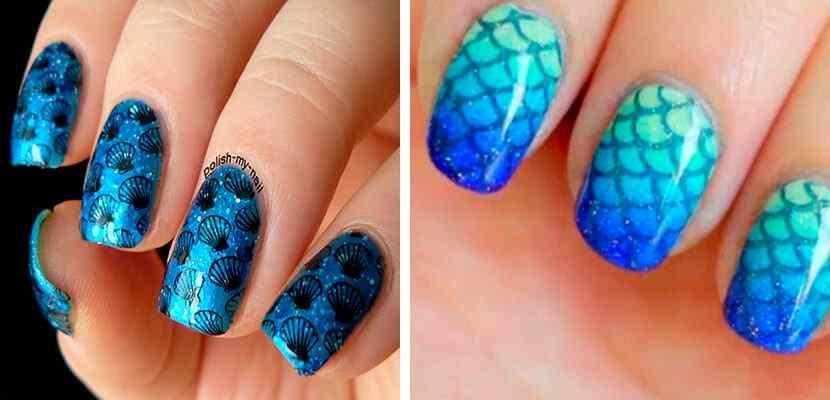 +110 Fotos de uñas decoradas para el verano - Summer Nail Art 9