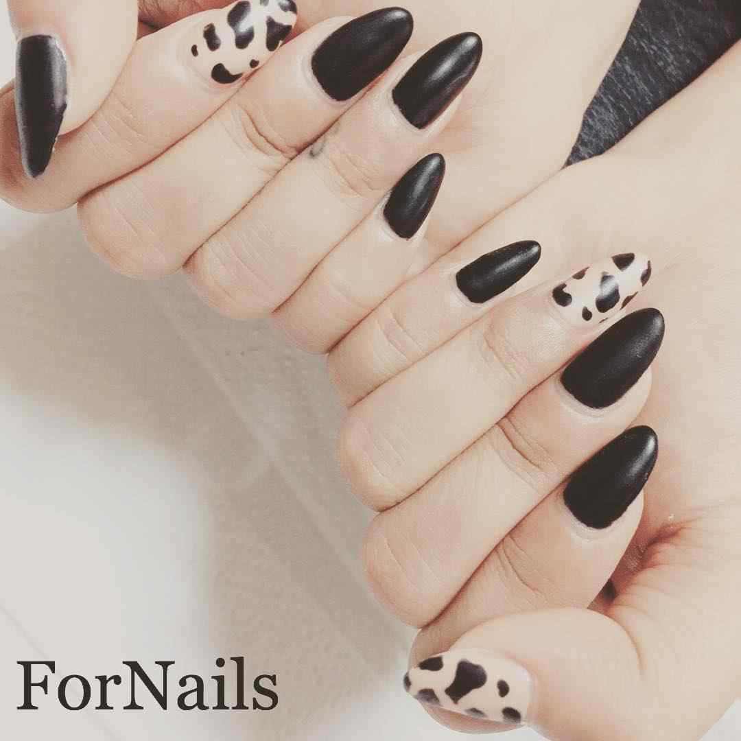 uñas animal print faciles