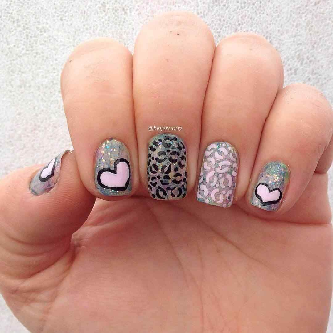 150 u as decoradas animal print u as decoradas nail art