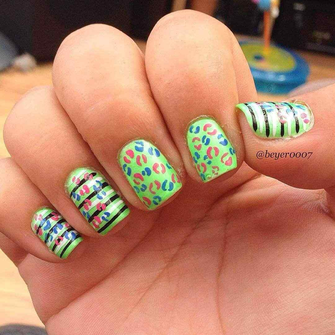 uñas decoradas animal print