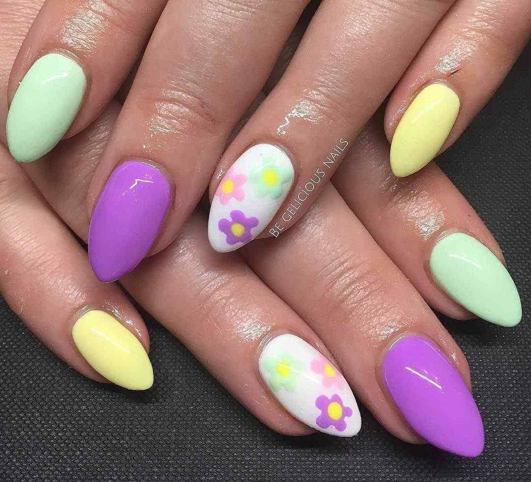 uñas de colores para primavera
