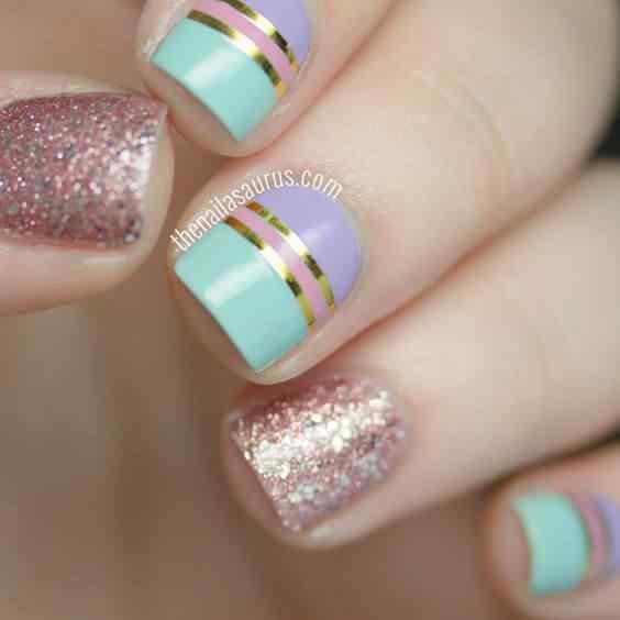 decoracion de uñas cuadradas