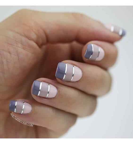 diseños de uñas Squoval
