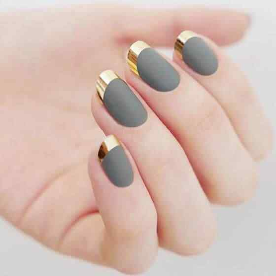 uñas con forma redonda