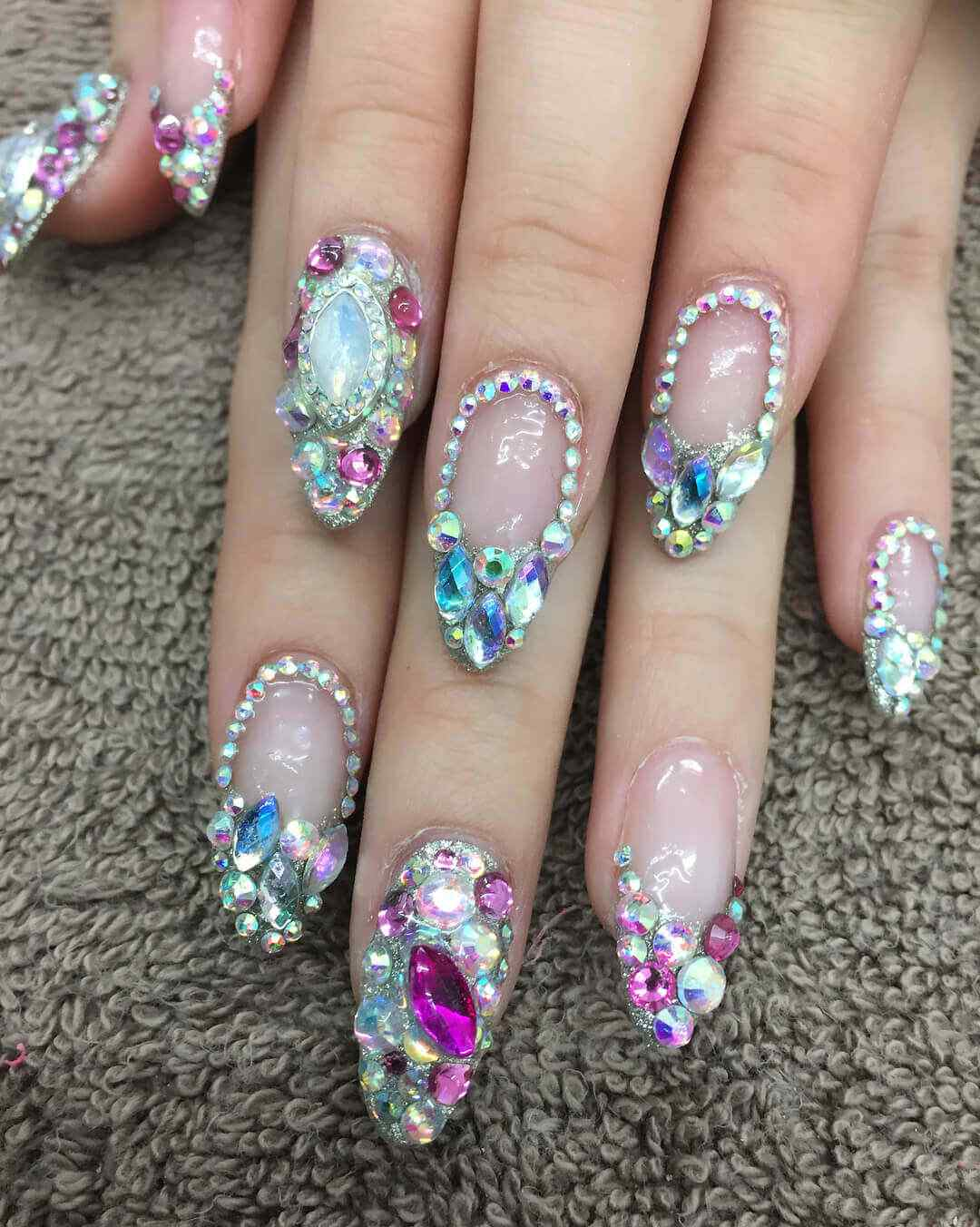 Uñas Decoradas Con Piedras De 100 Fotos Imperdibles 2019